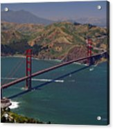 Golden Gate Acrylic Print by Donna Blackhall