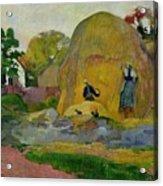 Golden Harvest Acrylic Print by Paul Gauguin