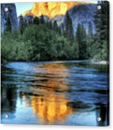Golden Light On Half Dome Acrylic Print by Mimi Ditchie Photography