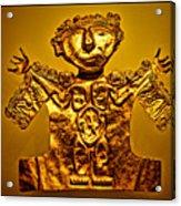 Golden Priest Statue Acrylic Print by Alexandra Jordankova