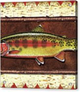 Golden Trout Lodge Acrylic Print by JQ Licensing