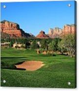 Golf In Paradise Acrylic Print by Gary Kaylor