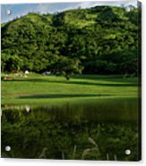 Golfito Desde La Laguna Acrylic Print by Bibi Romer