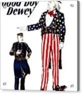 Good Boy Dewey Acrylic Print by War Is Hell Store