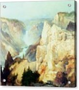 Grand Canyon Of The Yellowstone Park Acrylic Print by Thomas Moran