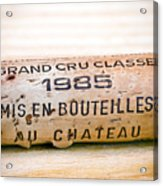 Grand Cru Classe Bordeaux Wine Cork Acrylic Print by Frank Tschakert