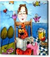 Grandma's Story Time Acrylic Print by Lucia Stewart