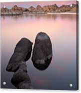 Granite Dells Twilight Acrylic Print by Eric Foltz