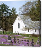Graveyard Phlox Country Church Acrylic Print by John Stephens