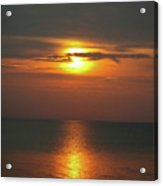 Great Lakes Sunset And Beach Acrylic Print by Brent Parks