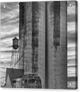 Great Western Sugar Mill Longmont Colorado Bw Acrylic Print by James BO  Insogna
