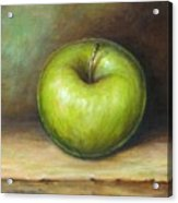 Green Apple Acrylic Print by Mirjana Gotovac