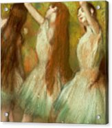 Green Dancers Acrylic Print by Edgar Degas