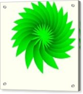 Green Flower Acrylic Print by Michael Skinner