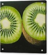 Green Kiwi Oil Painting  Acrylic Print by Natalja Picugina