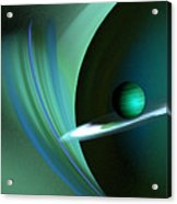 Green Planet Acrylic Print by Sandra Bauser Digital Art