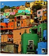 Guanajuato Hillside 1 Acrylic Print by Mexicolors Art Photography