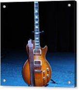 Guitar Blue Acrylic Print by Lauri Novak