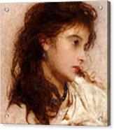 Gypsy Girl Acrylic Print by George Elgar Hicks