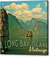Ha Long Bay Islands Vietnam Acrylic Print by Flo Karp