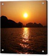 Ha Long Bay Sunset Acrylic Print by Oliver Johnston