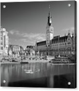Hamburg - Binnenalster Acrylic Print by Marc Huebner