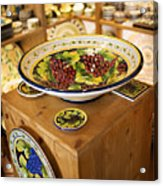 Hand Painted Dishes Acrylic Print by Marilyn Hunt