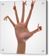 Handsome Hands Acrylic Print by Evan Sharboneau