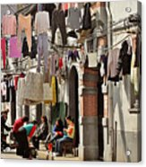 Hanging Out In The Streets Of Shanghai Acrylic Print by Christine Till