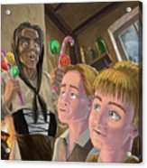 Hanzel And Gretel In Witches Kitchen Acrylic Print by Martin Davey