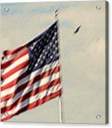 Happy Birthday America Acrylic Print by Susanne Van Hulst