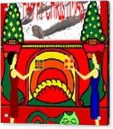 Happy Christmas 32 Acrylic Print by Patrick J Murphy