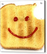 Happy Face And Bread Acrylic Print by Blink Images