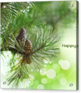 Happy Holidays Too Acrylic Print by Rebecca Cozart