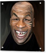 Happy Iron Mike Tyson Acrylic Print by Brett Hardin