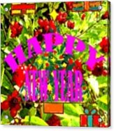 Happy New Year 6 Acrylic Print by Patrick J Murphy