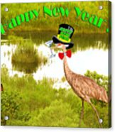Happy New Year Card Acrylic Print by Adele Moscaritolo