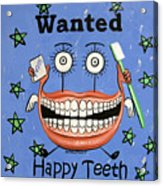 Happy Teeth Acrylic Print by Anthony Falbo