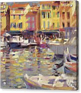 Harbor At Cassis Acrylic Print by Peter Graham