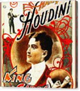 Harry Houdini - King Of Cards Acrylic Print by Digital Reproductions