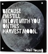 Harvest Moon Acrylic Print by Cindy Greenbean