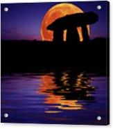 Harvest Moon Acrylic Print by Mark Stokes