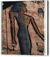 Hathor Holding The Ankh Sign Acrylic Print by Bernice Williams