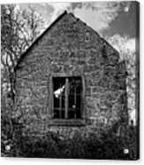 Haunted House In Black And White Acrylic Print by Chris Smith