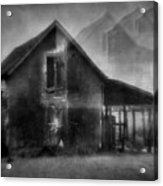 Haunted House Acrylic Print by Mimulux patricia no