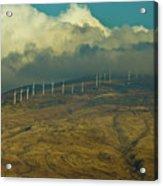 Hawaii Windmills On Maui One Acrylic Print by Vance Fox