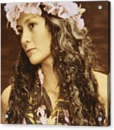 Hawaiian Wahine Acrylic Print by Himani - Printscapes