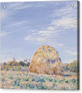 Haystack On The Banks Of The Loing Acrylic Print by Alfred Sisley