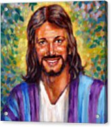 He Smiles Acrylic Print by John Lautermilch