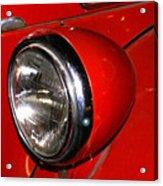Headlamp On Antique Fire Engine Acrylic Print by Douglas Barnett